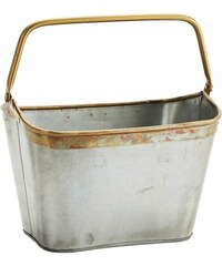 Madam Stoltz Zinkový kbelík Brass border