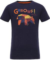 ALPINE PRO Dětské tričko Silvano - černé