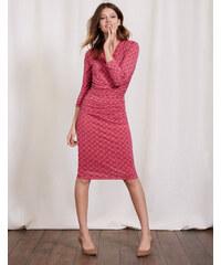 Wickelkleid mit Raffung Pink Damen Boden