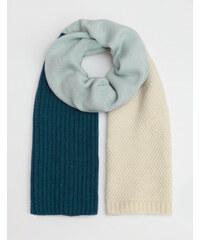 Baby Boden Schal mit Blockfarben Blau Damen Boden