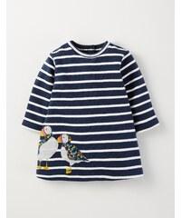 Gemütliches Kleid mit Applikationen Navy Baby Boden