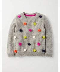 Hübscher Pullover mit Bommeln Grau Mädchen Boden