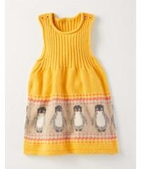 Fröhliches Strickträgerkleid Gelb Baby Boden