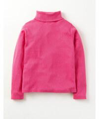 Gemütliches Rollkragenshirt Pink Mädchen Boden