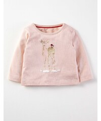 Hübsches T-Shirt mit Applikation Hellpink Baby Boden