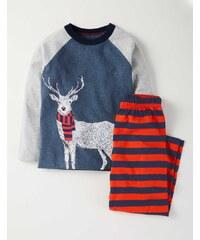 Pyjamaset mit Raglanärmeln Orange Jungen Boden