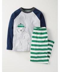 Pyjamaset mit Raglanärmeln Gr�n Jungen Boden