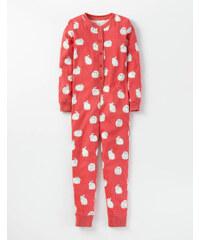 Gemütlicher Schlafoverall mit Muster Rot Mädchen Boden