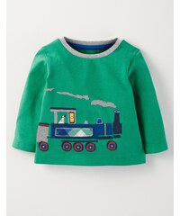 Shirt mit Fahrzeugapplikation Gr�n Baby Boden
