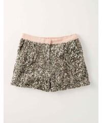 Pailletten-Shorts Gold Mädchen Boden