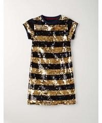 Partykleid mit Pailletten Gold Mädchen Boden