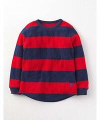 Gestreiftes T-Shirt mit Waffelmuster Rot Jungen Boden