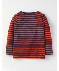 Bretonshirt im Marine-Look Orange Jungen Boden