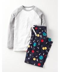 Pyjamaset Dunkelgrau Jungen Boden