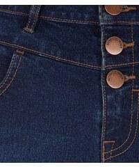 New Look Teenager – Marineblaue Shorts mit hohem Bund