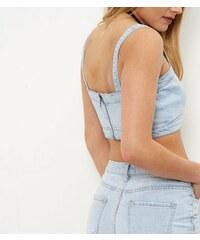 New Look Hellblaues Jeans-Bustier