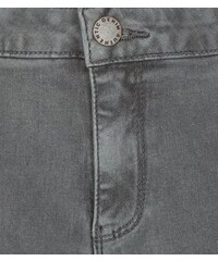 New Look Superenge Skinny-Jeans mit hohem Bund und Rissen am Knie in Grau für Teenager