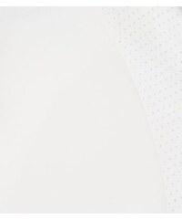 New Look Teenager – Weiße Airtex-Bomberjacke mit farblich abgesetzten Abschlüssen