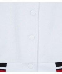 New Look Baseball-Jacke mit Streifenbesatz in Weiß für Teenager