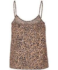 New Look Teenager – Braunes Trägertop mit Leopardenmuster