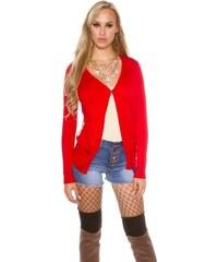 Koucla Trendy dámský cardigan-červený