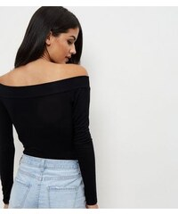 New Look Blue Vanilla – Schulterfreier Body in Schwarz