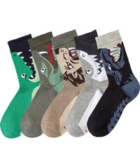 bpc bonprix collection Socken mit Tiermotiv (5er-Pack) in beige für Babys von bonprix