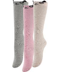 bpc bonprix collection Strümpfe mit Pandagesicht (3er-Pack) in grau für Mädchen von bonprix