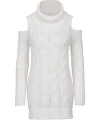 BODYFLIRT Rollkragenpullover mit Cut Out langarm in weiß für Damen von bonprix
