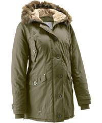 bpc bonprix collection Umstandsjacke mit Kapuze, weitenregulierbar langarm in grün für Damen von bonprix