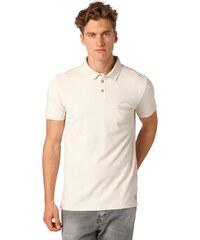TOM TAILOR DENIM REGULAR FIT Poloshirt soft beige solid