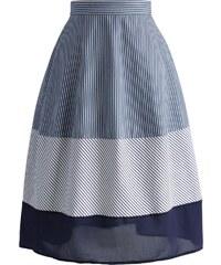 CHICWISH Dámská midi sukně Modré proužky