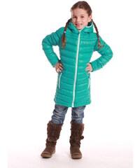 ALPINE PRO Dívčí kabát Adrianno - zelený