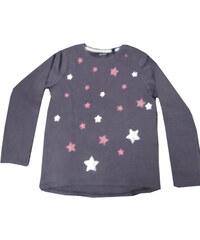 Blue Seven Dívčí tričko s hvězdičkami - hnědé