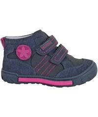 Protetika Dívčí kožené kotníkové boty Nora - šedé