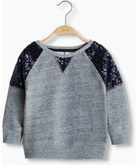 Esprit Sweat-shirt en coton mélangé à paillettes