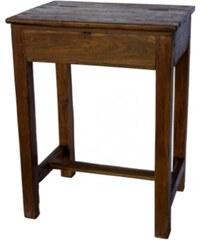 Industrial style, Dřevěná školní lavice z Indie 72x54x39cm (1243)