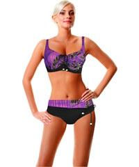 Modera Malibu dvojdílné plavky s kosticí černá L
