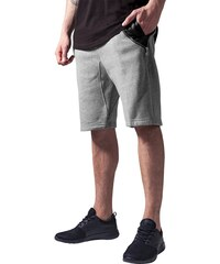 Urban Classics Side-Zip Leather Imitation Sweatshorts Grey Black TB982