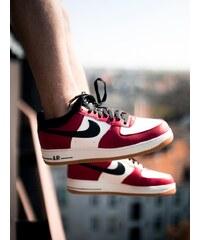 Nike Air Force 1 Gym Red Black Game Light Brown Sail