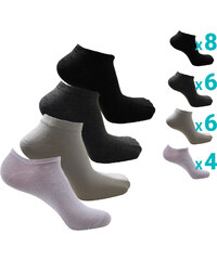 Lesara 24er-Set Sneakersocken im Unifarbdesign - 40-43