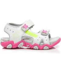 HAKER Roztomilé růžovo-bílé dětské sandály