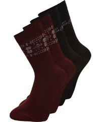 TOM TAILOR 4 PACK Chaussettes black/red