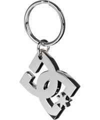 DC DC Star Keychain silver