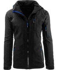 Pánská bunda Alps černo-modrá - černá