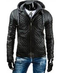 Pánská kožená bunda Gimmli černá - černá