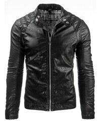Pánská kožená bunda Sammi černá - černá