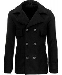 Pánský kabát Hooks černý - černá