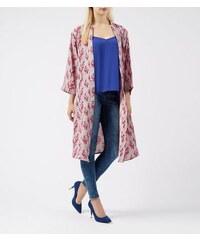 New Look Hellvioletter Kimono mit Blütenmuster