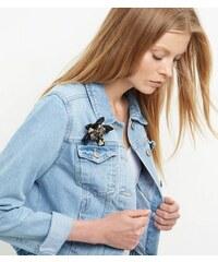 New Look 3D-Blumenbrosche in Schwarz
